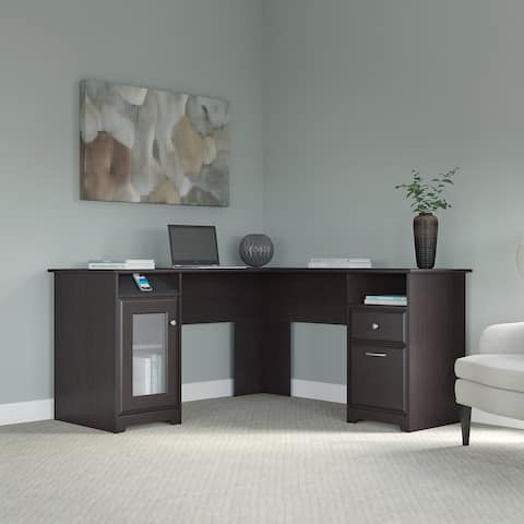 Copper Grove Burgas Espresso Oak 60W L-shaped Computer Desk