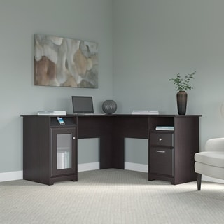 Link to Copper Grove Burgas Espresso Oak 60-inch L-shaped Computer Desk Similar Items in Home Office Furniture
