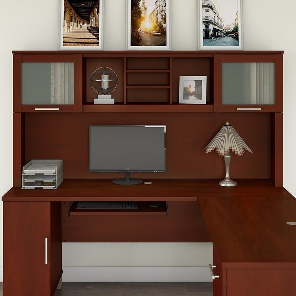 Copper Grove Shuman Espresso Oak Finish Desk Hutch (Hutch Only). Opens flyout.
