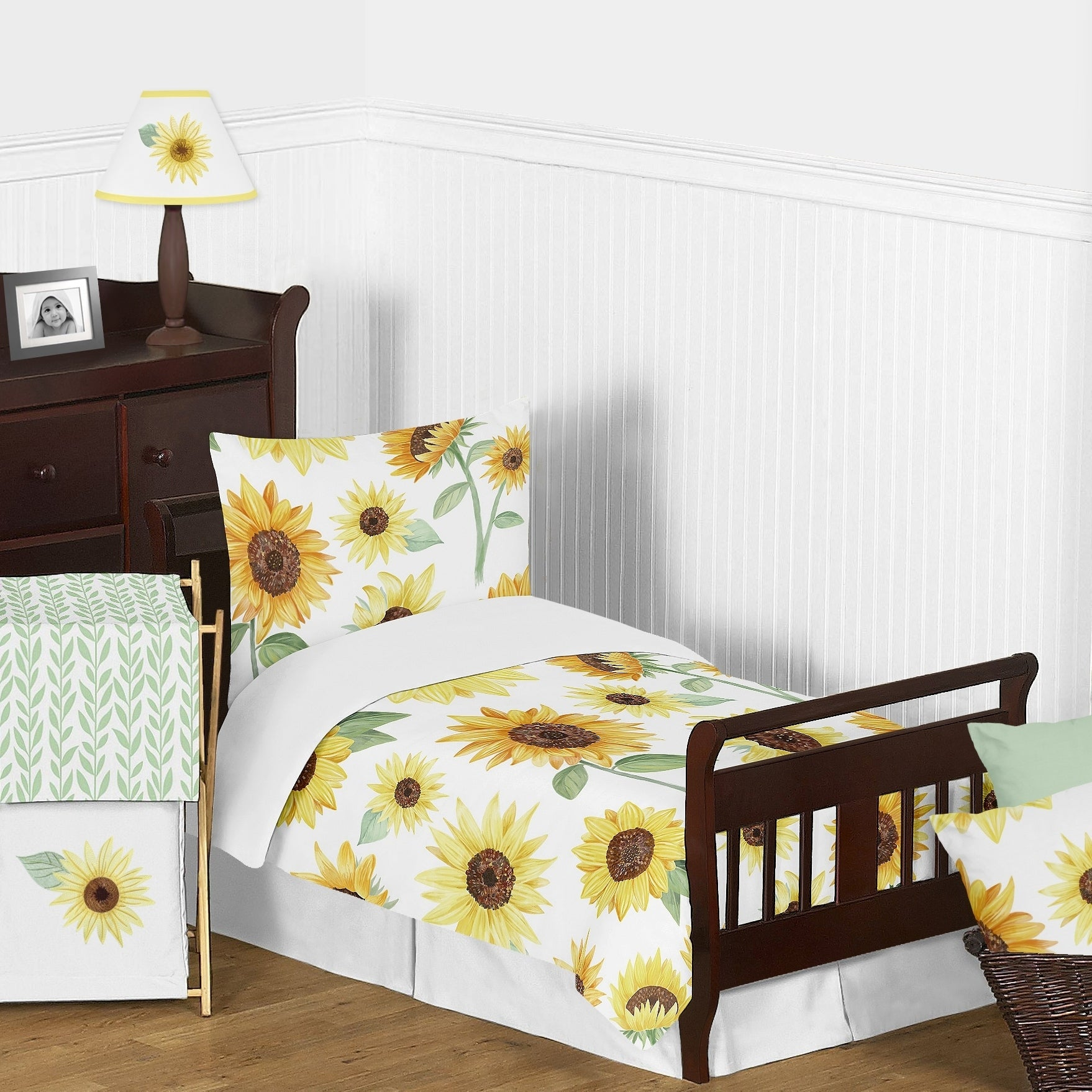 3 Pieces Devut Cover With 2 Pillow Shams Erosebridal Sunflower Print Comforter Cover For Kids Boys