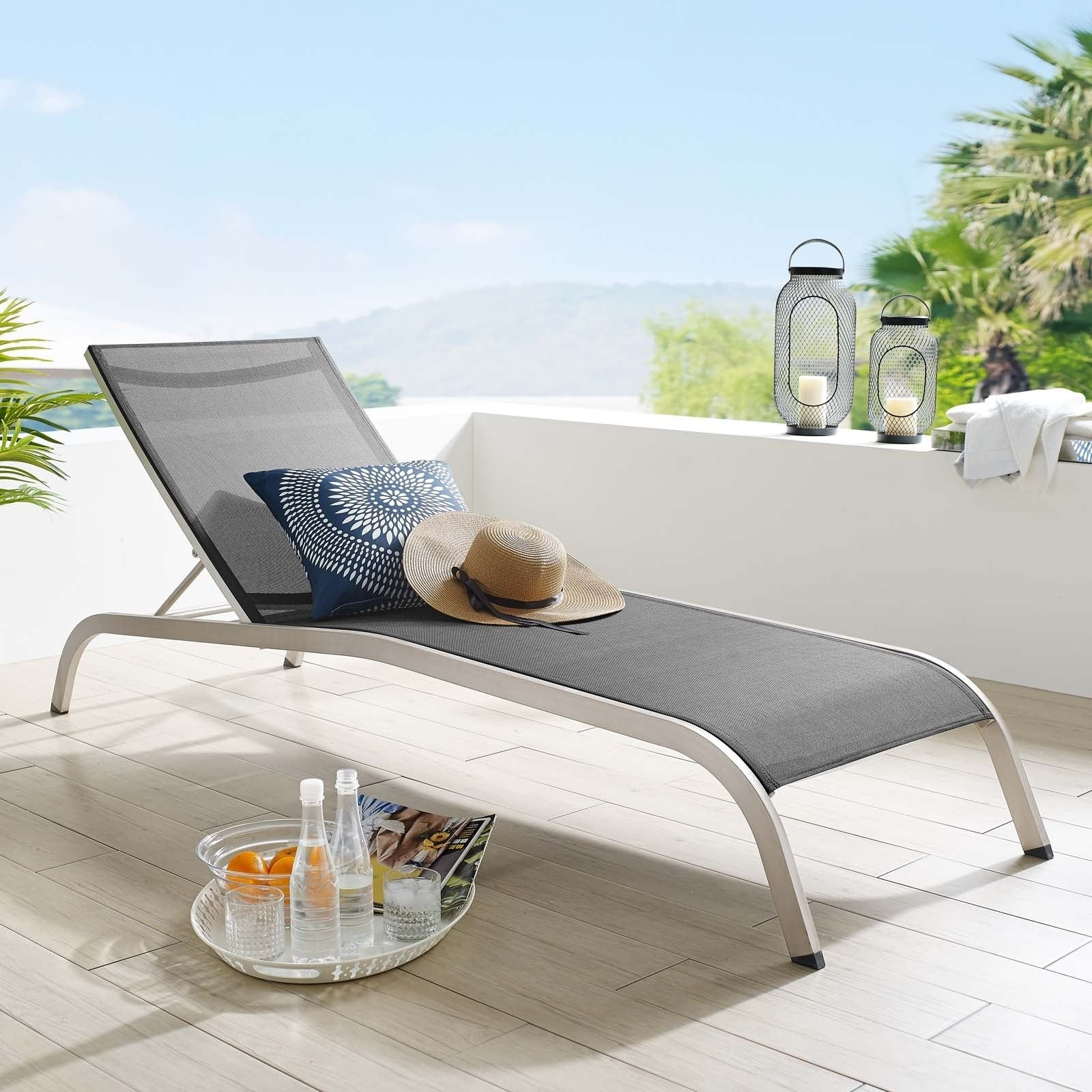 Savannah Outdoor Patio Mesh Chaise Outdoor Patio Lounge Chair Overstock 29168203