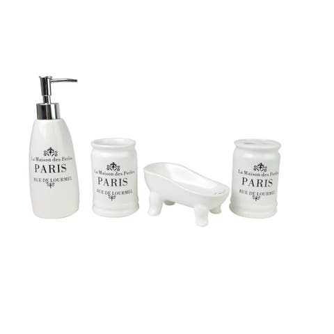 Lauren tAylor- Paris Ceramic Bathroom Accessories - White - N/A