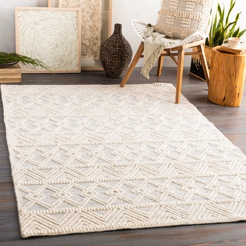 Torin Handmade Rustic Wool Area Rug