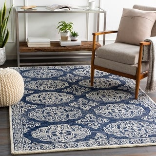 Link to Talbot Handmade Medallion Wool Area Rug Similar Items in Rugs