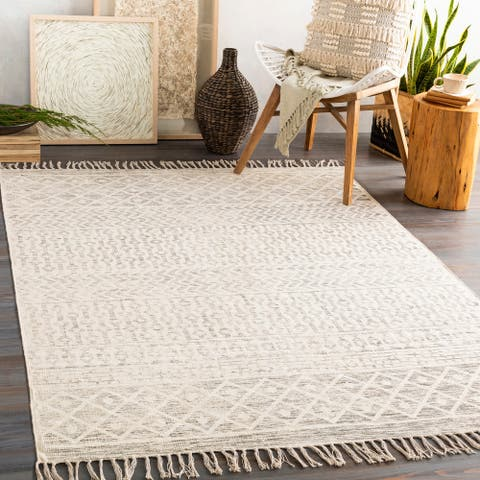 Lanarkshire Handmade Moroccan Cotton Area Rug