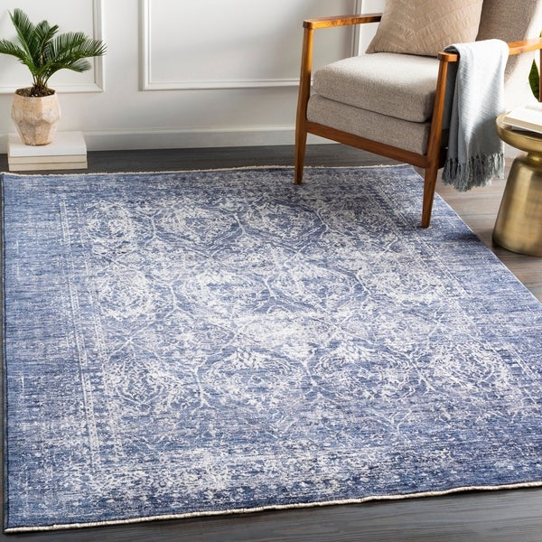 Milfred Vintage Damask Area Rug