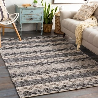 Otto Hand Woven Farmhouse Wool Area Rug