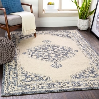Penjani Handmade Persian Medallion Wool Area Rug