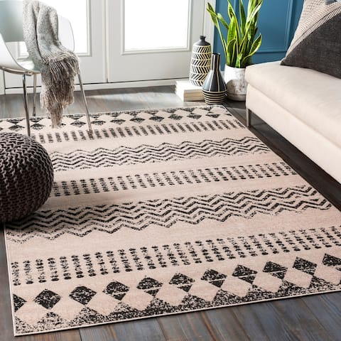 Zelda Distressed Boho Area Rug