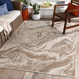 Link to Harvest Abstract Swirl Indoor/ Outdoor Rug Similar Items in Rugs