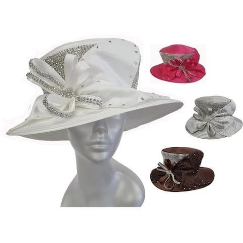 Women's Satin Ribbon Hat Church Designer Couture Brida Kentuckyl Derby