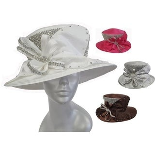 Women's Satin Ribbon Hat Church Designer Couture Brida Kentuckyl Derby
