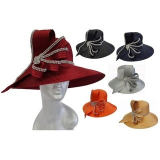 Women's Satin Ribbon Hat Church Designer Couture Bridal Derby