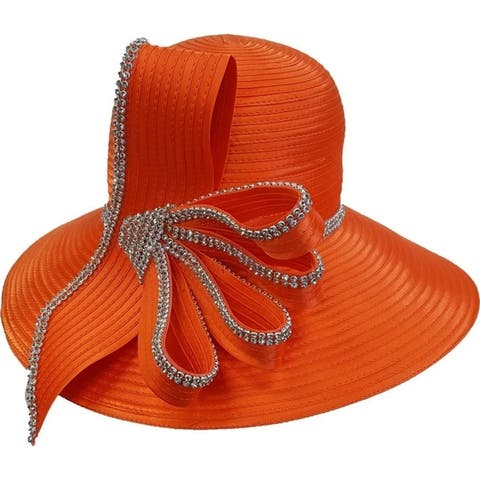 Women's Satin Ribbon Hat Church Designer Couture Bridal Derby