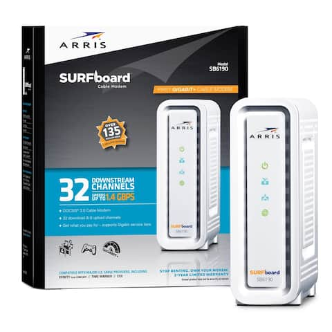 ARRIS SURFboard Cable Modem SB6190 - Refurbished