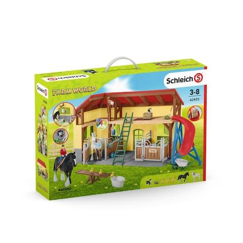 Schleich, Farm World, Horse Stable Toy Playset
