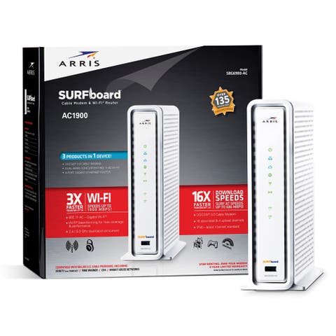 Arris SURFboard SBG6900-AC Cable Modem & Wi-Fi Router AC1900 - Refurbished
