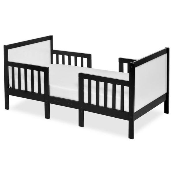Dream On Me Hudson 3 in 1 Convertible Toddler Bed Black & White
