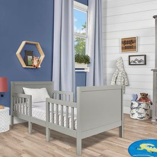 Dream On Me Hudson 3 in 1 Convertible Toddler Bed Cool Grey