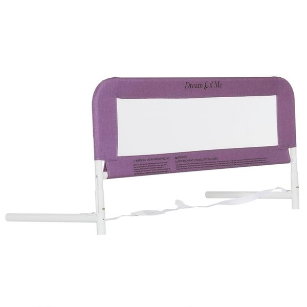 Dream On Me 3D Linen fabric and Mesh Security Bed Rail in Purple Size - Twin