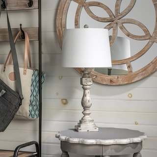 Ed Rustic Distressed Gray Table Lamp
