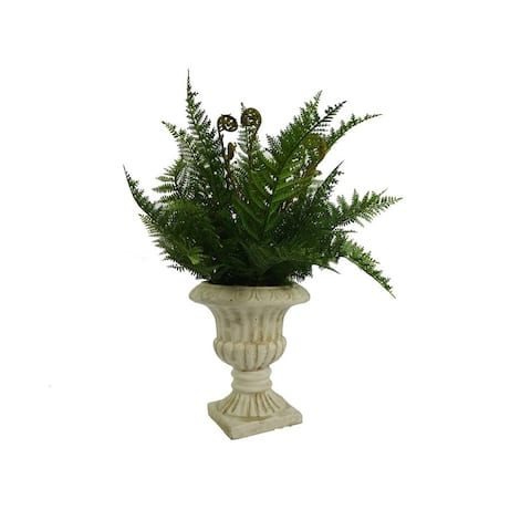 Admired By Nature Artificial Lady Fern In Decorative Victorian Urn.
