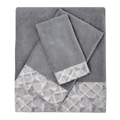 Croscill Sloan Grey Velour Towels