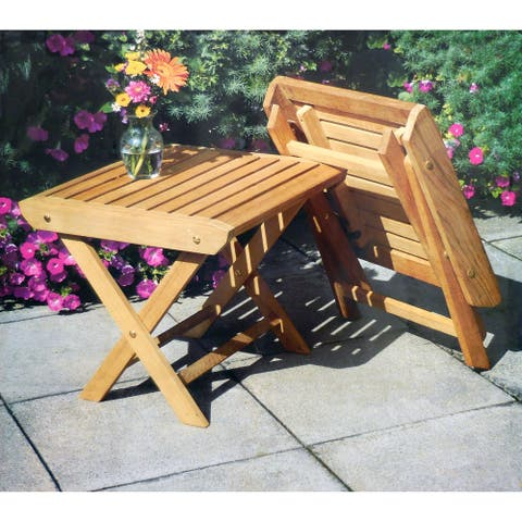 Teakwood 2PK Folding Side Table