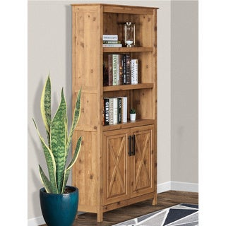 Carbon Loft Cuthbertson 71-inch Bookcase with Cabinet