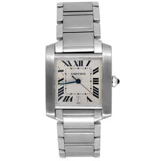 Pre-owned Large Cartier Stainless Steel Tank Francaise Watch - N/A - N/A