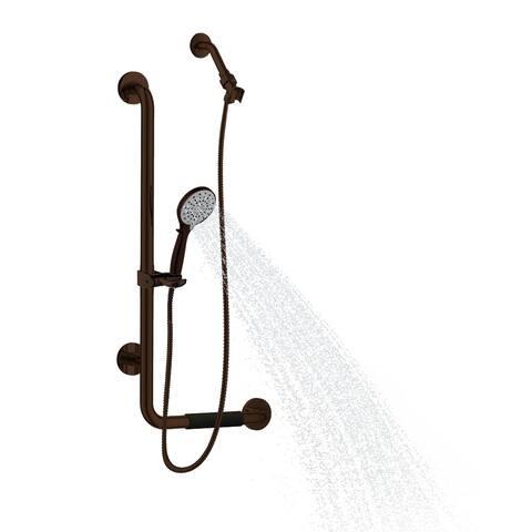 PULSE ShowerSpas ErgoSlideBar Left in Oil-Rubbed Bronze