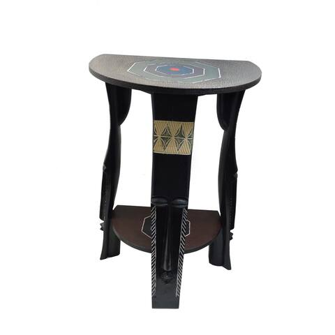 Handmade Fanti Arts Semi-Circle Table (Ghana)
