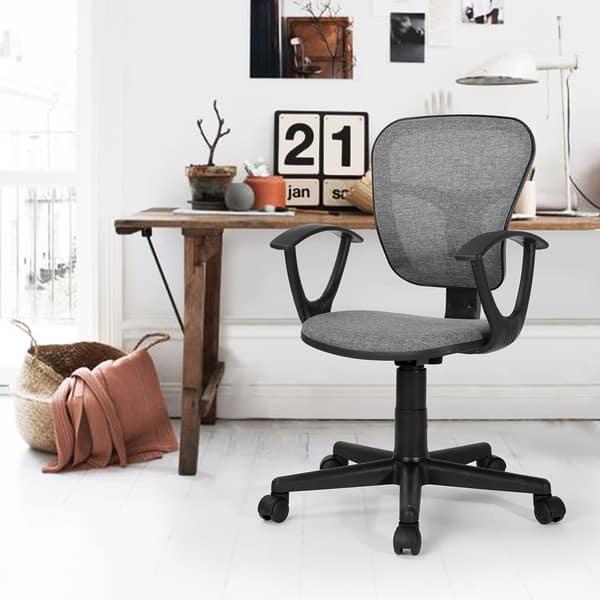 Sensational Shop Home Office Swivel Mid Back Student Computer Desk Chair Machost Co Dining Chair Design Ideas Machostcouk