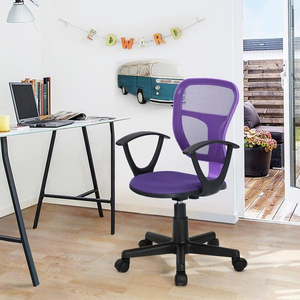 Home Office Swivel Mid Back Student Computer Desk Chair For Kids Overstock 29172678