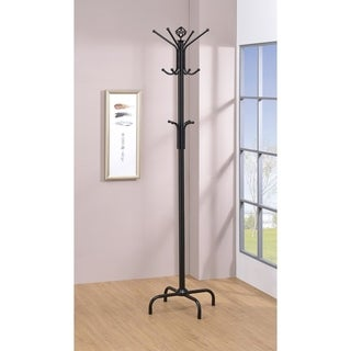Porch & Den Merlin Black Metal Coat Rack