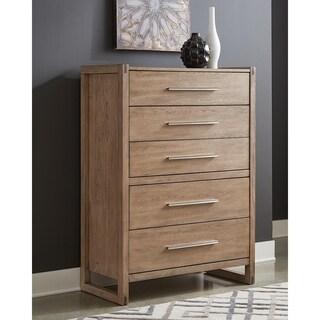 Hanke Grey Oak 5-drawer Chest