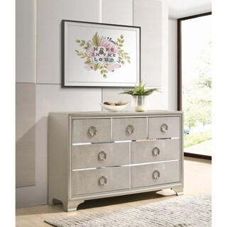 Auden Metallic Sterling 7-drawer Dresser