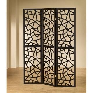 Brownlee Black 3-panel Folding Screen