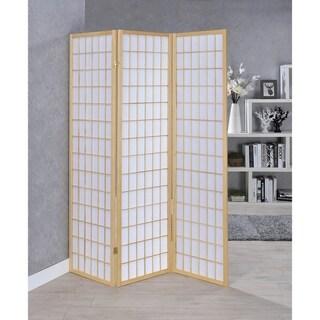 Porch & Den Metolius Wood 3-panel Folding Screen