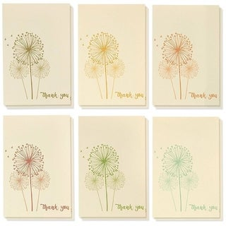 48 Pcs Thank You Cards Bulk Set, Vintage Dandelion Thank You Notes and Envelopes
