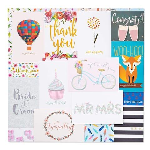 "48-Pack Greeting Card Birthday Wedding Thank You Assortment w/ Envelopes, 4""x6"""