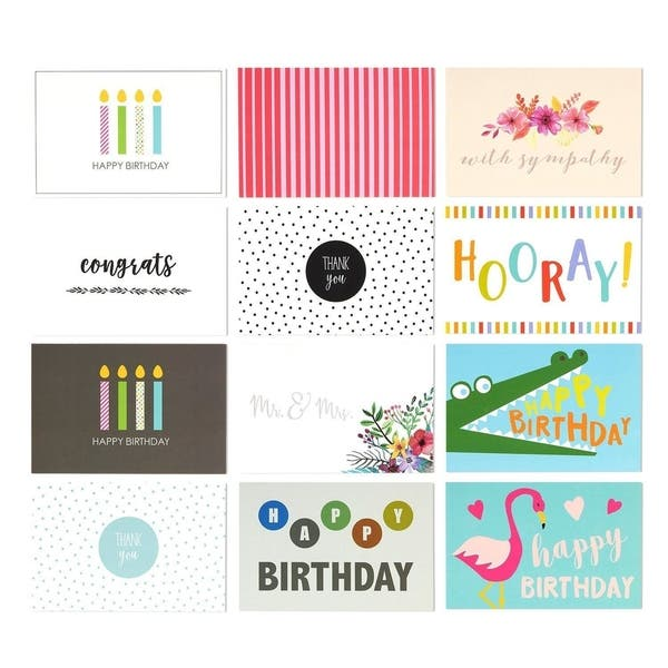 Assorted greeting cards /& envelopes with thank you and fun messages 10 packs