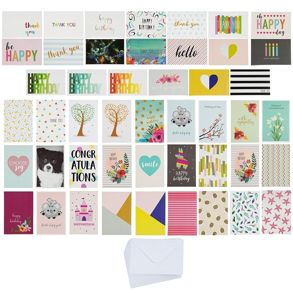 """4/"""" x 6/"""" 6 Bible Verse Designs with Envelopes 60-Pack Best Paper Greeting Cards"""