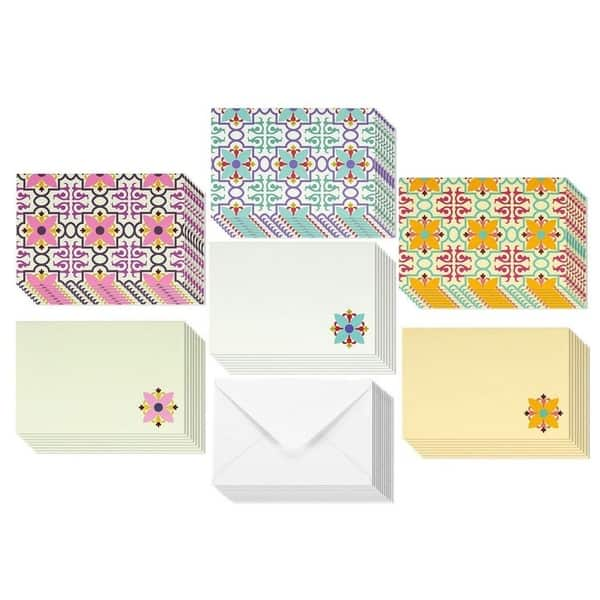 48 Pack All Occasion Assorted Blank Vintage Note Cards for Her Greeting Card Bulk Box Set Colorful Flower Floral Designs Notecards with Envelopes Included 4 x 6 inches