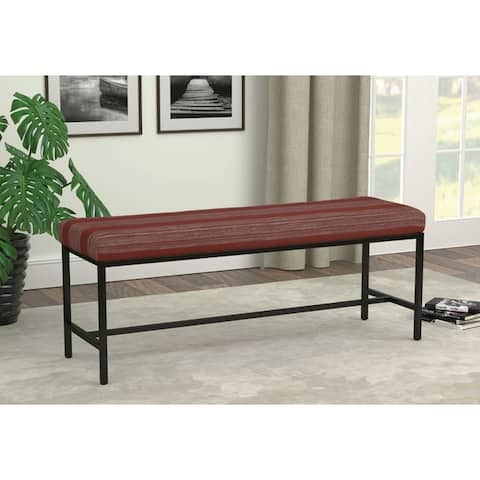 Jakoba Gunmetal Upholstered Bench
