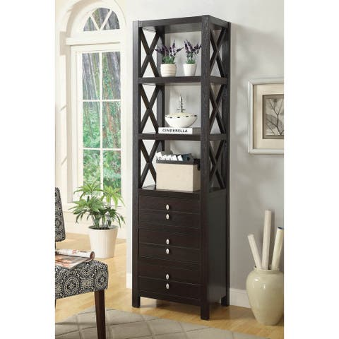 Lebowitz Cappuccino 3-Drawer Media Tower