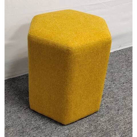 Finch Upholstered Hexagonal Ottoman