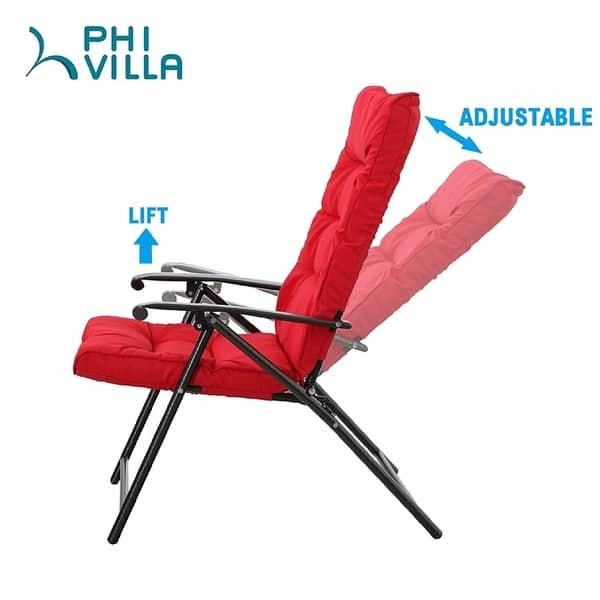 Phi Villa Patio Padded Folding Chair