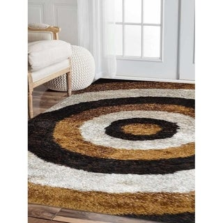 Modern Oriental Hand Tufted Polyester Shag Carpet Indian Area Rug