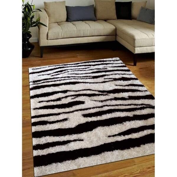 Modern Animal Print Hand Tufted Shag Carpet Indian Oriental Area Rug